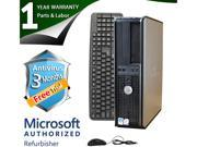 DELL Desktop Computer 760 Core 2 Duo E7400 (2.80 GHz) 4 GB DDR2 160 GB HDD Windows 7 Professional 64-Bit