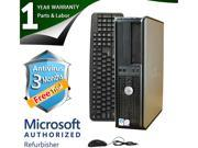 DELL Desktop Computer 760 Core 2 Duo E7400 (2.80 GHz) 4 GB DDR2 1 TB HDD Windows 7 Professional 64-Bit