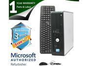 DELL Desktop Computer 780 Core 2 Duo E8400 (3.00 GHz) 4 GB DDR3 160 GB HDD Intel GMA 4500 Windows 7 Professional 64-Bit