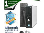 DELL Desktop Computer 780 Core 2 Duo E8400 (3.00 GHz) 8 GB DDR3 320 GB HDD Windows 7 Professional 64-Bit