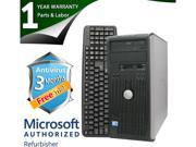 DELL Desktop Computer 780 Core 2 Duo E8400 (3.00 GHz) 4 GB DDR3 320 GB HDD Windows 7 Professional 64-Bit