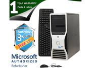 DELL Desktop Computer T5500 Xeon E5504 (2.00 GHz) 4 GB DDR3 500 GB HDD Windows 7 Professional 64-Bit Multi-Language, English / Spanish