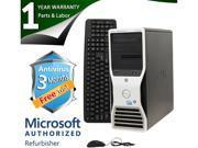 DELL Desktop Computer T5500 Xeon E5504 (2.00 GHz) 4 GB DDR3 500 GB HDD Windows 7 Professional 64-Bit