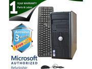 DELL Desktop Computer 755 Core 2 Quad Q6600 (2.40 GHz) 4 GB DDR2 1 TB HDD Windows 7 Professional 64-Bit