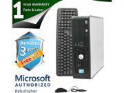 DELL Desktop Computer 780 Core 2 Quad Q6600 (2.40 GHz) 8 GB DDR3 1 TB HDD Windows 7 Professional 64-Bit