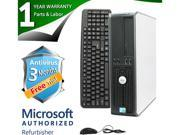 DELL Desktop Computer 780 Core 2 Quad Q6600 (2.40 GHz) 8 GB DDR3 1 TB HDD Windows 7 Professional 64-Bit