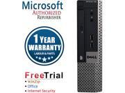 DELL Desktop Computer OptiPlex GX780-USFF Core 2 Duo E8400 (3.00 GHz) 4 GB DDR3 160 GB HDD Windows 10 Pro