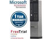DELL Desktop Computer OptiPlex 9010 Intel Core i3 3rd Gen 3220 (3.30 GHz) 4 GB DDR3 1TB HDD Windows 10 Professional