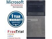 Refurbished DELL OptiPlex 990 Tower Intel Core I7 2600 3.4G / 8G DDR3 / 320G / DVD / Windows 10 Professional