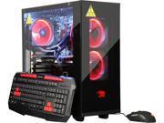 iBUYPOWER Desktop PC NE5202EA Ryzen 7 1700X (3.40 GHz) 16 GB DDR4 1 TB HDD 240 GB SSD Windows 10 Home 64-Bit