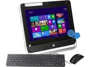 "HP All-in-One PC TouchSmart 20-f230 (H5P48AA#ABA) AMD Dual-Core Processor E1-2500 (1.40 GHz) 4 GB DDR3 500 GB HDD 20"" Touchscreen Windows 8"