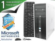 HP Desktop Computer ELITE 8000 Core 2 Duo E8400 (3.00 GHz) 4 GB DDR3 1 TB HDD Windows 7 Professional 64-Bit