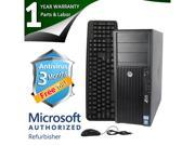 HP Desktop Computer Z210 XEON E3-1240 (3.30GHz) 4GB DDR3 250GB HDD Windows 7 Professional 64-Bit