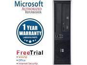 HP Desktop Computer DC5850-SFF Athlon 64 X2 5000B (2.6 GHz) 4 GB DDR2 160 GB HDD Windows 10 Pro