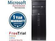 Refurbished HP Compaq 8200 Elite Tower Intel Core i3-2100 3.1G / 4G DDR3 / 2TB / DVD / Windows 7 Professional 64 Bit / 1 Year Warranty