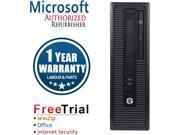 Refurbished HP EliteDesk 800G2 SFF Intel Core I5 6500 3.2G / 4G DDR4 / 250G / DVD / Windows 10 Professional 64 Bits