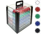Generic 1000 11.5g SUITED Design Poker Chips in Acrylic Carrier
