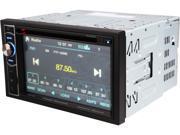 """Power Acoustik PD-62H2B 6.2"""" LCD Touchscreen w/ Bluetooth"""