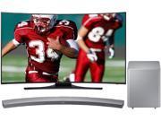 "Samsung UN65HU7250 65"" Class 4K Ultra HD Curved LED TV w/ Curved Bluetooth Sound Bar (Silver) Bundle"