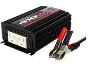 Schumacher XI41B 'X-Line' 410W Power Inverter with Battery Clamps and 12V Male Adapter Plug