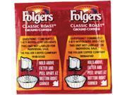 Folgers 06930 Coffee, Classic Roast Regular, .9 oz. Pack, 42/Carton