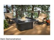 Outdoor Great Room  NV-2424-BLK-W-K  Napa Valley Fire Pit Table Blk Wick Base