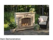 Outdoor Great Room  STONEARCHPR-1224-K  Stone Arch Gas Fireplace Stucco Finish