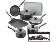 Farberware  21809  High Performance Nonstick 17-Piece Cookware Set  Black