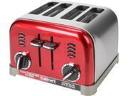 Cuisinart CPT-180MR Red Metal Classic 4-Slice Toaster