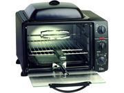 Maxi-Matic ERO-2008S Black 6 Slice Toaster Oven Broiler w/ Rotisserie, Grill & Griddle N82E16896125154