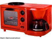 Elite EBK-200R Red 3-in-1 Multifunction Breakfast Center 9B-96-125-159