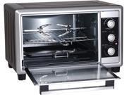 Elite Cuisine 6-Slice Countertop Toaster Oven Rotisserie & Broiler ERO-2008NZS 9B-96-125-235