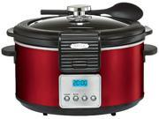 Bella 14106 Red Linea 5Qt Programmable Slow Cooker with Locking Lid