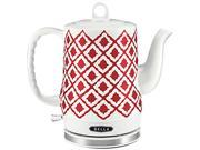 Image of Bella 14102 Red Ceramic Kettle, Red