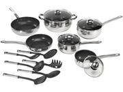 Cookpro 534 18pc Cookware Set Stainless Steel Nonstick Coated