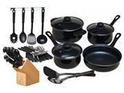Gibson Home 64269.32 32PC Nonstick CookwreSt Blk Black