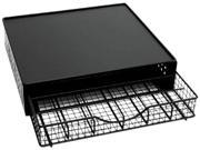 Lipper 8662 Black Wire Coffee Maker Shelf W/ Storage Drawer