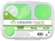 Smart Planet EC 34 Large 3 Compartment Eco Silicone Collapsible Lunch Box Green