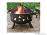 Landmann 28345 Big Sky Fire Pit - Stars & Moon - Black