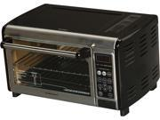 Hamilton Beach 31230 Black Set & Forget Toaster Oven with Convection Cooking