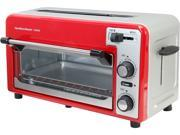 Hamilton Beach 22722 Red Silver 2 Slice Toaster and Oven