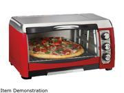 Hamilton Beach  31335  Red  Ensemble 6 Slice Toaster Oven Broiler