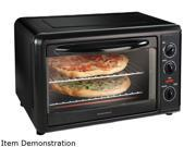 Hamilton Beach  31101  Black  Countertop Convection Oven with Rotisserie