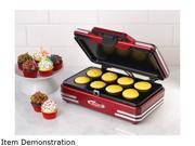 Nostalgia Electrics RCKM700 Retro Series 50s Style Cupcake Maker Mini Retro Red