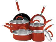 Rachael Ray  77559  Colored Stainless Steel 10-Piece Set  Red