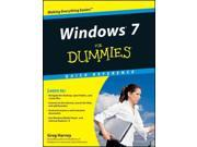 Windows 7 for Dummies Quick Reference For Dummies SPI Harvey, Greg