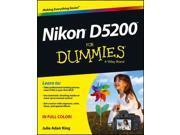 Nikon D5200 for Dummies For Dummies King, Julie Adair