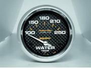 Auto Meter Carbon Fiber Electric Water Temperature Gauge