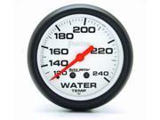 Auto Meter Phantom Mechanical Water Temperature Gauge