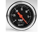 Auto Meter Traditional Chrome Mechanical Vacuum Gauge